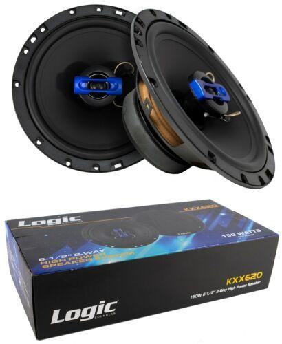 "Pair of 6.5"" 2 Way Coaxial High Power Speakers 300 Watts 4 Ohm Car Audio Pro Spe"