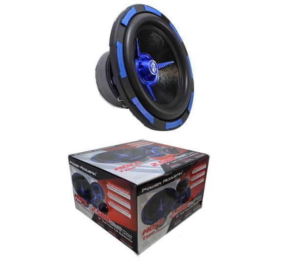 """Power Acoustik 12"""" 2500 Watts Dual Voice Coil 2 Ohm Subwoofer MOFOS-12D2"""