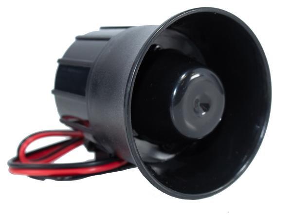 120 DB 6 Tone Mini Loud Siren Horn 12 Volt Universal 20W