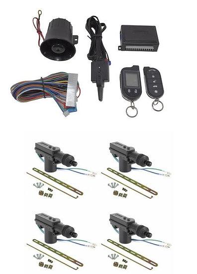 2 Way Car Alarm Security System w/ 4 Door locks Keyless Entry G777 Scytek Galaxy