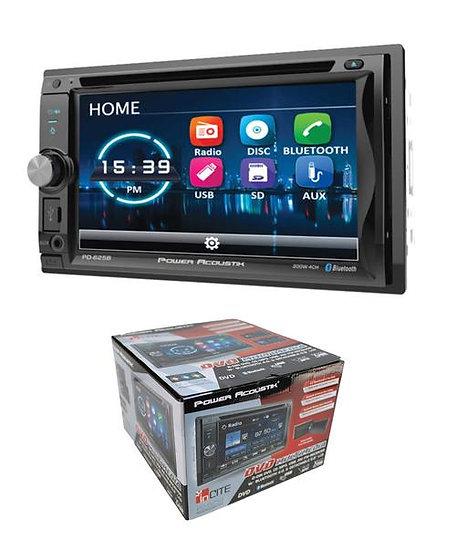 "Power Acoustik 6.2"" LCD Detachable 2-Din DVD CD MP3 USB AM/FM Bluetooth PD-625B"