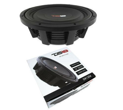 "12"" Shallow Mount Subwoofer 1200W 4 Ohm Pro Audio Bass Speaker DS18 SW12S4"