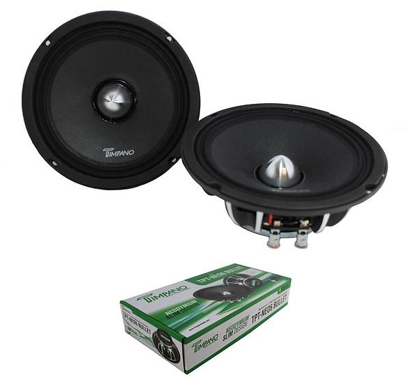 "6.5"" Neodymium Bullet Speaker Pair 300W 4 Ohm Pro Car Audio TPT-NEO6"