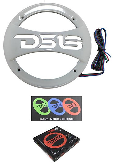 """DS18 PRO 8"""" Universal Transparent RGB ABS Grill with UV Coating PRO-GRILL8LGO"""