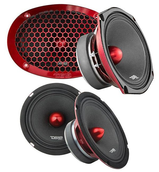 """4x DS18 6x9 + 6.5"""" Pro Car Audio Door Speaker Combo 2100 Watt 8 Ohm Loudspeakers"""