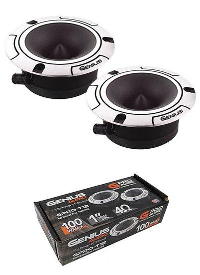 """Pair of Genius Audio GPRO-T12 1"""" Tweeters 200W 4 Ohms Aluminium Car Audio"""