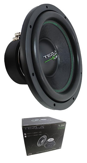 """Tezla Audio 12"""" 1.0K Series 1500W Dual 4 Ohm Subwoofer TZV1-12D41.0K"""