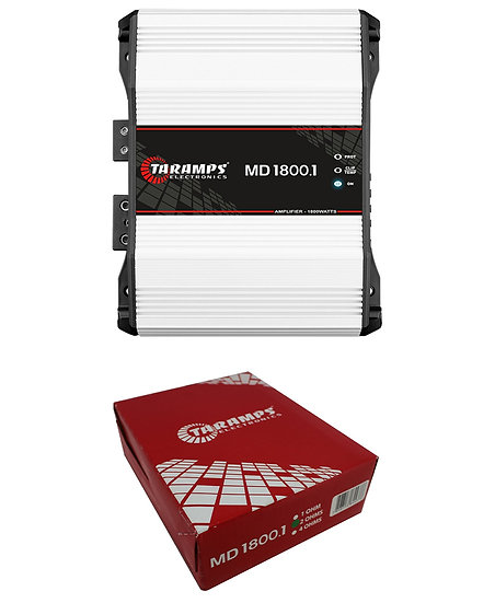 Taramps MD1800-1 Full Range 1 Ohm 1800W Amplifier Mono Car Audio