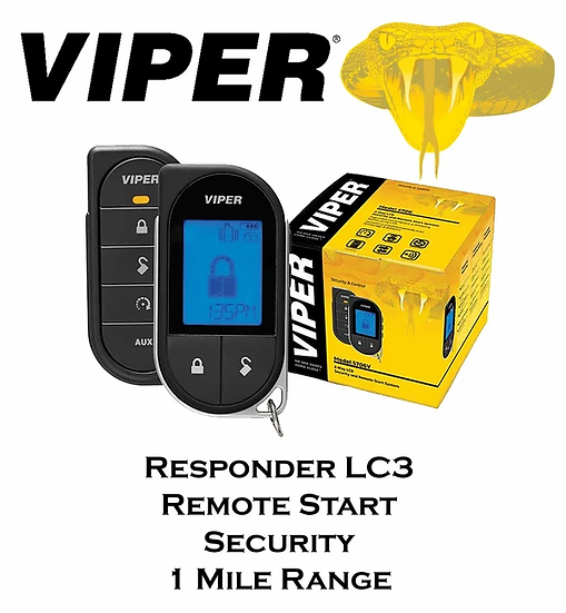 Viper Responder LC3 1-Way Remote Start Car Alarm 1 Mile Range 2 Way LCD 5706V
