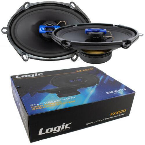 "2x 5x7"" 6x8"" 2 Way Coaxial High Power Speakers 400 Watts 4 Ohm Pro Car Audio"