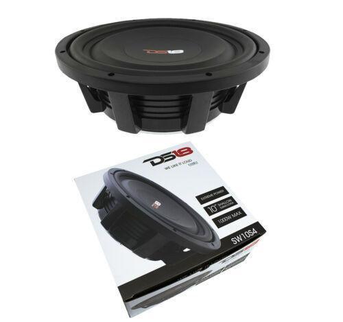 "10"" Shallow Mount Subwoofer 1000W 4 Ohm Pro Audio Bass Speaker DS18"