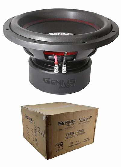 "Dual 4 Ohm Voice Coil 15"" Subwoofer 2000 Watts Bass Genius Audio N9-15D4"