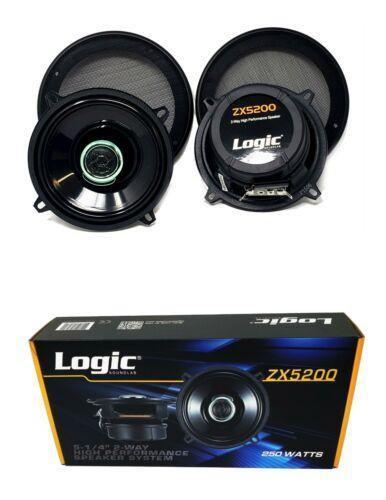 "5.25"" 250W 2 way Coaxial Speakers Adjustable tweeters Car Audio ZX5200"