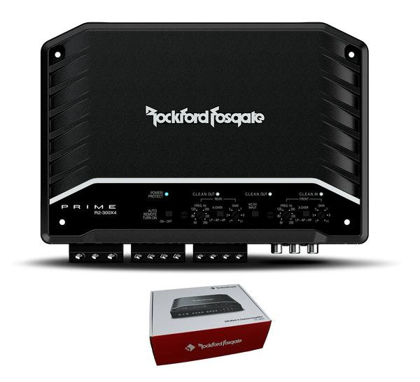 Rockford Fosgate Prime 300W 4-Channel Full Range Class D Amplifier R2-300X4