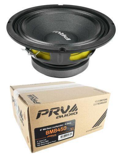 "PRV Audio 8MB450 v2 8"" Midbass Woofer 8 Ohms 450 Watts Pro Car Audio"