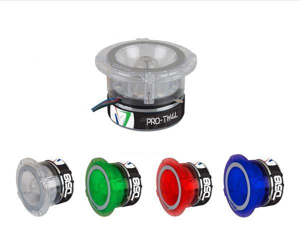 "1x Super Bullet Tweeter RGB LED 4 Ohm DS18 PRO-TW4L 1.75"" Titanium 600W"