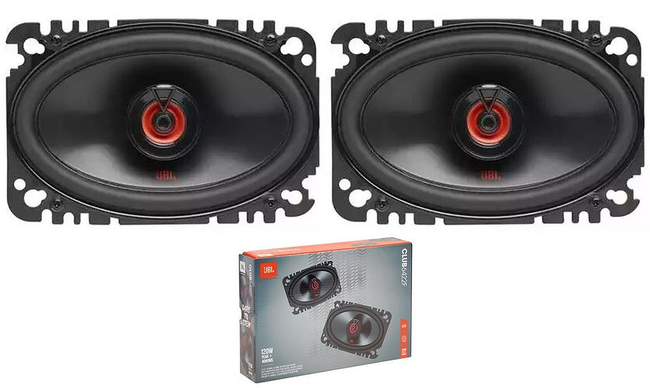Pair of JBL 4x6 240W 3 Ohm Two-Way Coaxial Car Speakers CLUB 6422FAM