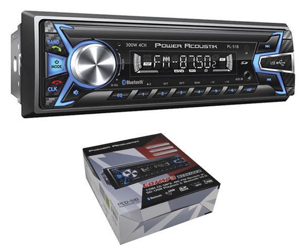 PL-51B Car Radio In-Dash MP3 AM/FM Receiver w/ Bluetooth Stereo