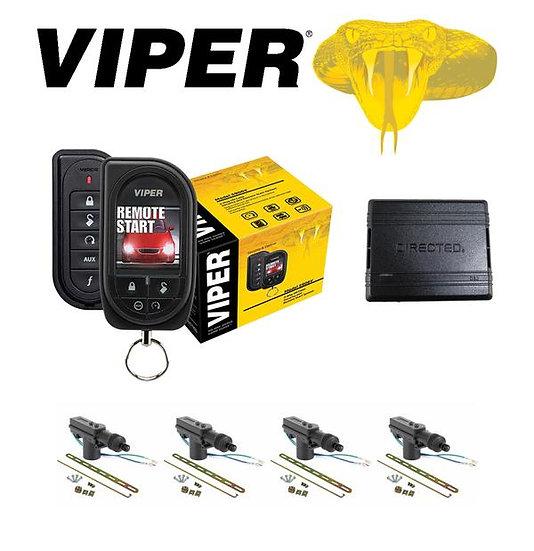 Viper Color OLED 2-Way Remote Start + DB3 Bypass Module + 4 Door Locks 5906V