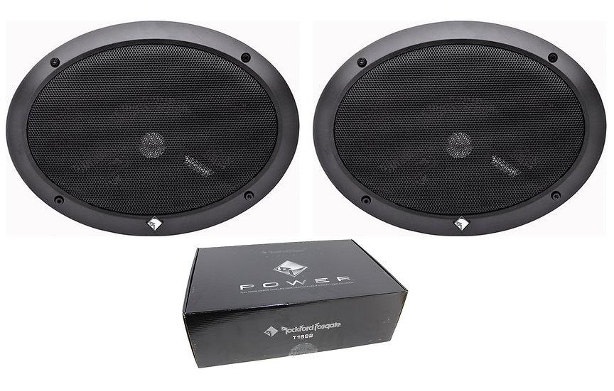 Pair of Rockford Fosgate Power 6x9 400W 4 Ohm 2-Way Full-Range Speakers T1692