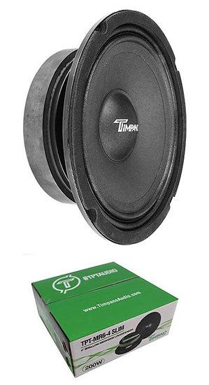 "Timpano MR6-4 Slim 6.5"" Mid Range 200W 4 Ohm Speaker Car Audio"