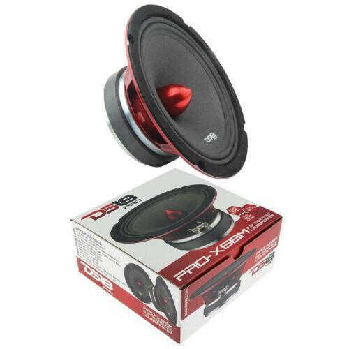"""1x 6.5"""" Mid Full Range Speakers 500W Loudspeaker 8 Ohm DS18 PRO-X6BM"""