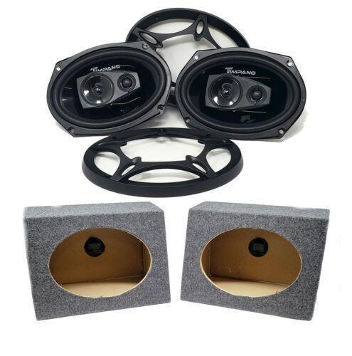 "2x 6 x 9"" Pro Car Audio Speakers 560W Coaxial Qpower 6x9 Speaker Box Enclosure"