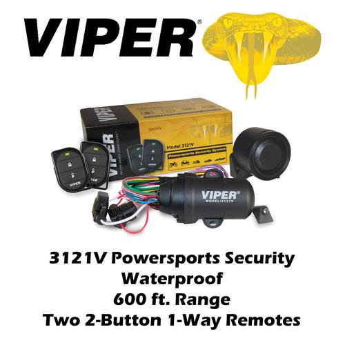 Viper 1-Way Security System Power Sports Waterproof Two 2-Button Remotes 3121V