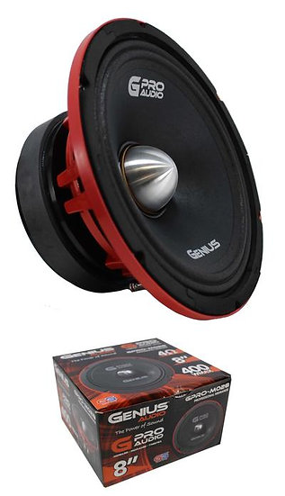 "8"" Midrange 400W 4 Ohm Midbass Pro Bullet Speaker Genius Audio GPRO-M028"