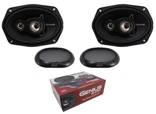 "6x9"" 3 Way 420W 4 Ohm Coaxil Speakers Midrange Genius Audio GS-M693V"
