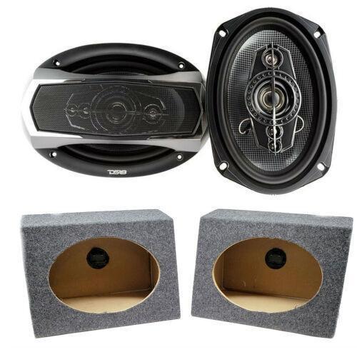 "2x DS18 6 x 9"" Pro Car Audio Speakers 520W Coaxial 6x9 Speaker Box Enclosures"