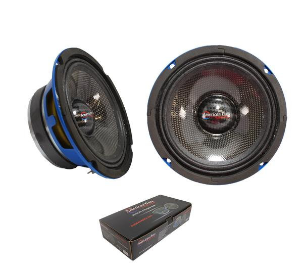 "Pair of American Bass 6.5"" 400 Watt 4 Ohm Midrange Speaker GODFATHER 6.5CC"