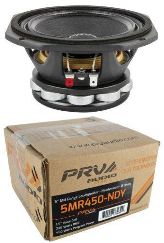 "5"" PRV Audio 5MR450-NDY Mid Range Loud Speaker 8 Ohm 450W Pro Car Audio"