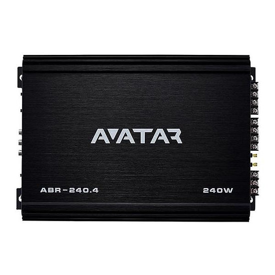 Avatar ABR-240.4 4 Channel Class AB 240 Watt Amplifier Buran Series
