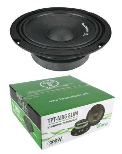 "Full Range Mid Bass Loud Speaker Timpano TPT-MB6 Slim 6"" 4 Ohm (200W Peak)"