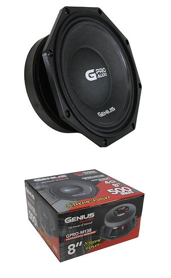 "Genius Audio GPRO-M138 8"" 500W 4 Ohm Midrange Aluminium Car Audio Speaker"