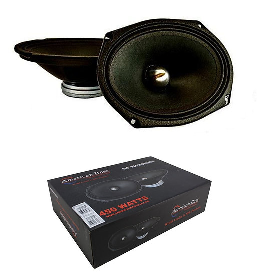 "Pair of 6x9"" Midrange Neodymium Speakers 450W 4 Ohm Pro Car Audio American Bass"