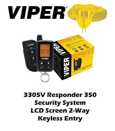 Viper Responder 350 Security System LCD Screen 2-Way Keyless Entry 3305V