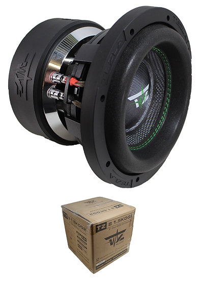 "Tezla Audio 8"" 1500W Dual 2 Ohm High Performance Subwoofer TZ81.5KD2G2"