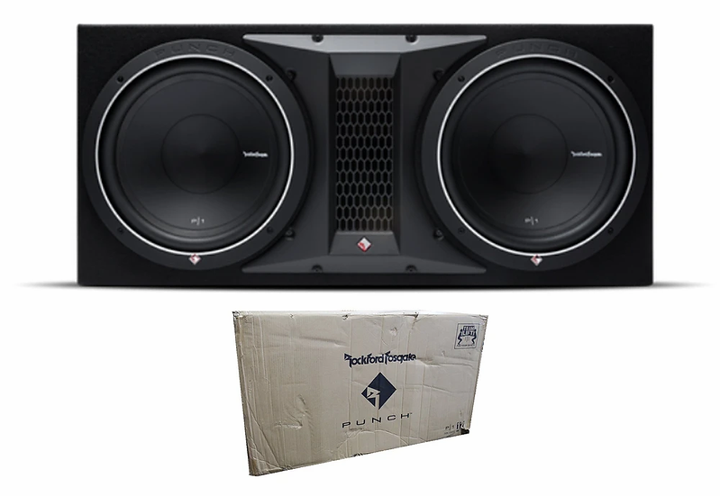 "Rockford Fosgate Punch Enclosure with two 10"" 1000W 2ohms Subwoofers P1-2X10"