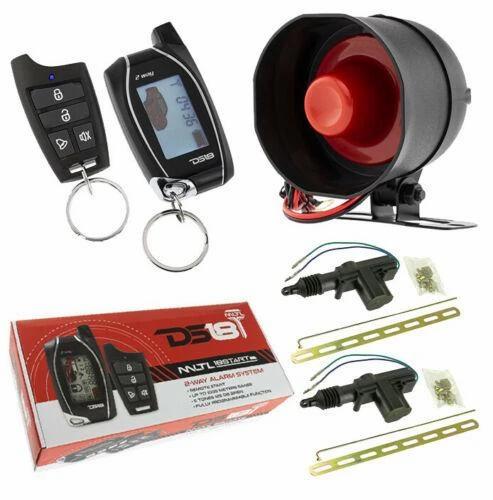 2 Way Keyless Entry 2 Door Locks LCD Remote Start Car Alarm Security 1000 Meters