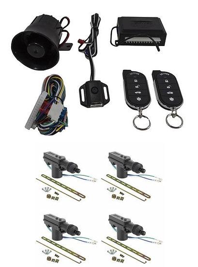 Car Alarm Anti Theft Security System G27 Scytek + 4 x Power Door Lock Actuators