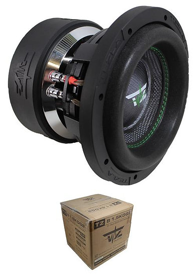 "Tezla Audio 8"" 1500W Dual 2 Ohm High Performance Subwoofer TZ81.5KD2G2"