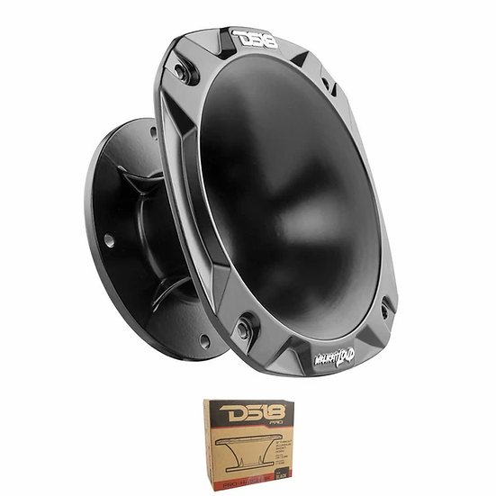 """DS18 2"""" 100° Black Aluminum Bolt On Short Horn PRO-HA52/BK"""