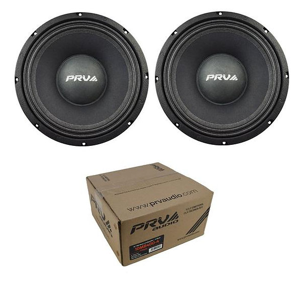 "Two 10"" Mid Bass Loudspeaker Pro Car Audio 400 Watts 4 Ohm PRV 10MB400-4"