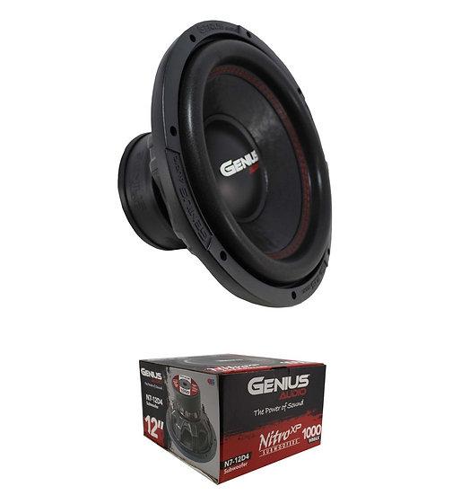 """Genius Audio Nitro Series N7-12D4 12"""" 1000W Dual 4-Ohm Subwoofer"""