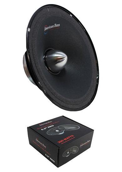 "6.5"" Midrange Neodymium Speaker 300W 4 Ohm Pro Car Audio American Bass NEO65"