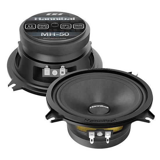 "Deaf Bonce Hannibal MH-50 Black 5"" 4-Ohm 200W Midrange Car Audio Speakers"