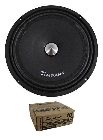 "Timpano 10"" 400W 4 Ohm Neodymium Mid Bass Loudspeaker TPT-MB10 NEO"