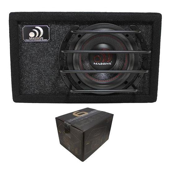 "Massive Audio 6.5"" 500W Dual 4 Ohm Loaded Subwoofer Enclosure BG-6"